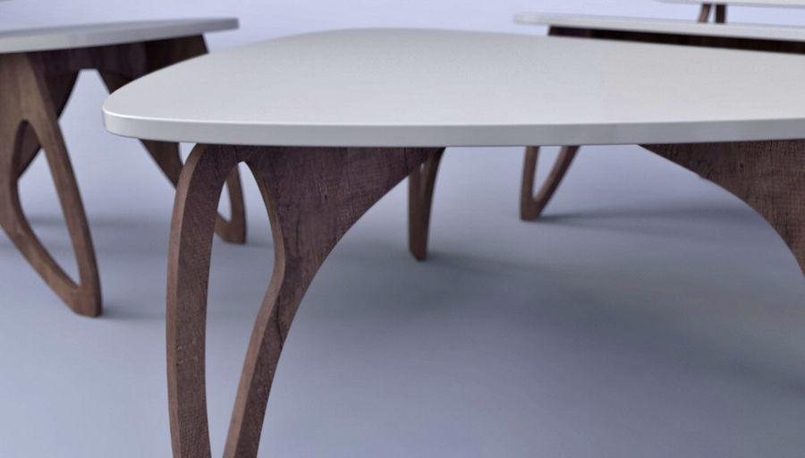 3M Muebles silla sillón mesa royalty-free modelo 3d - Preview no. 3