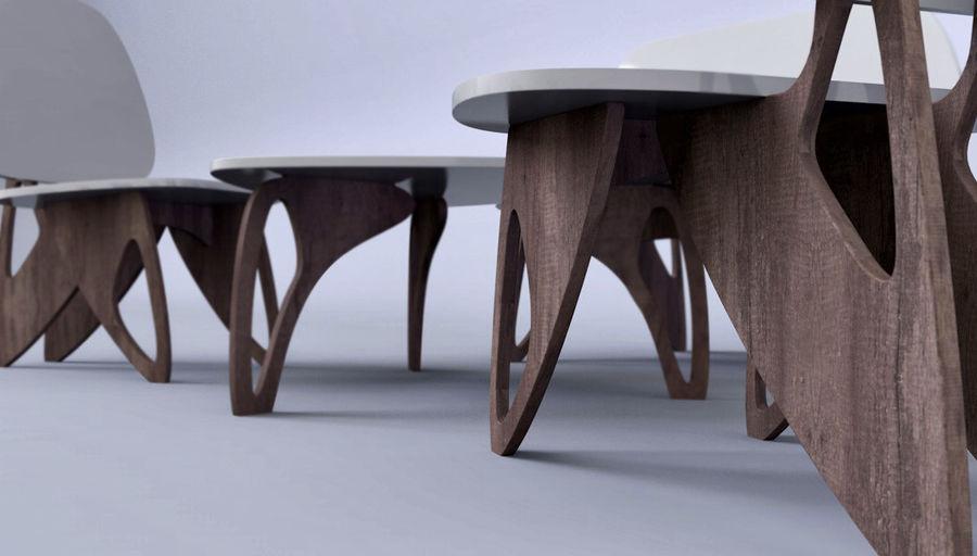 3M Muebles silla sillón mesa royalty-free modelo 3d - Preview no. 1