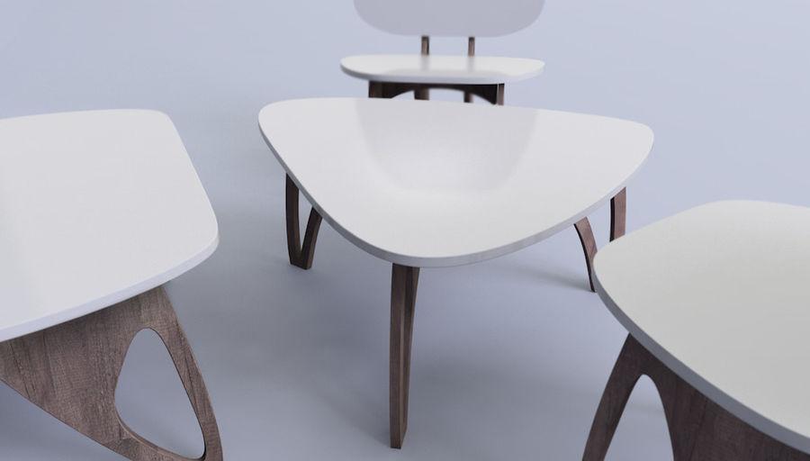 3M Muebles silla sillón mesa royalty-free modelo 3d - Preview no. 5