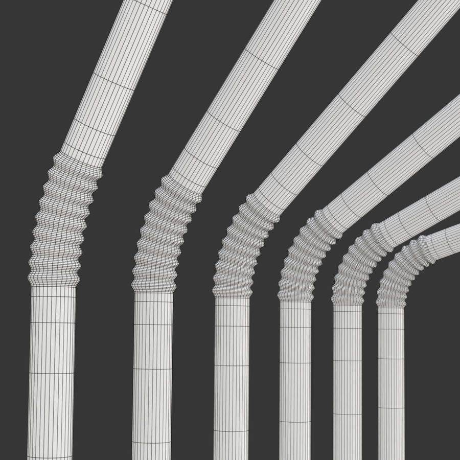 Rigged Drink Straw royalty-free 3d model - Preview no. 14