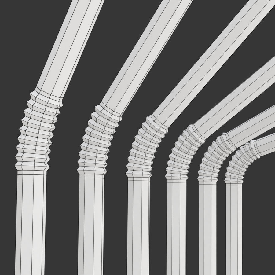Rigged Drink Straw royalty-free 3d model - Preview no. 11
