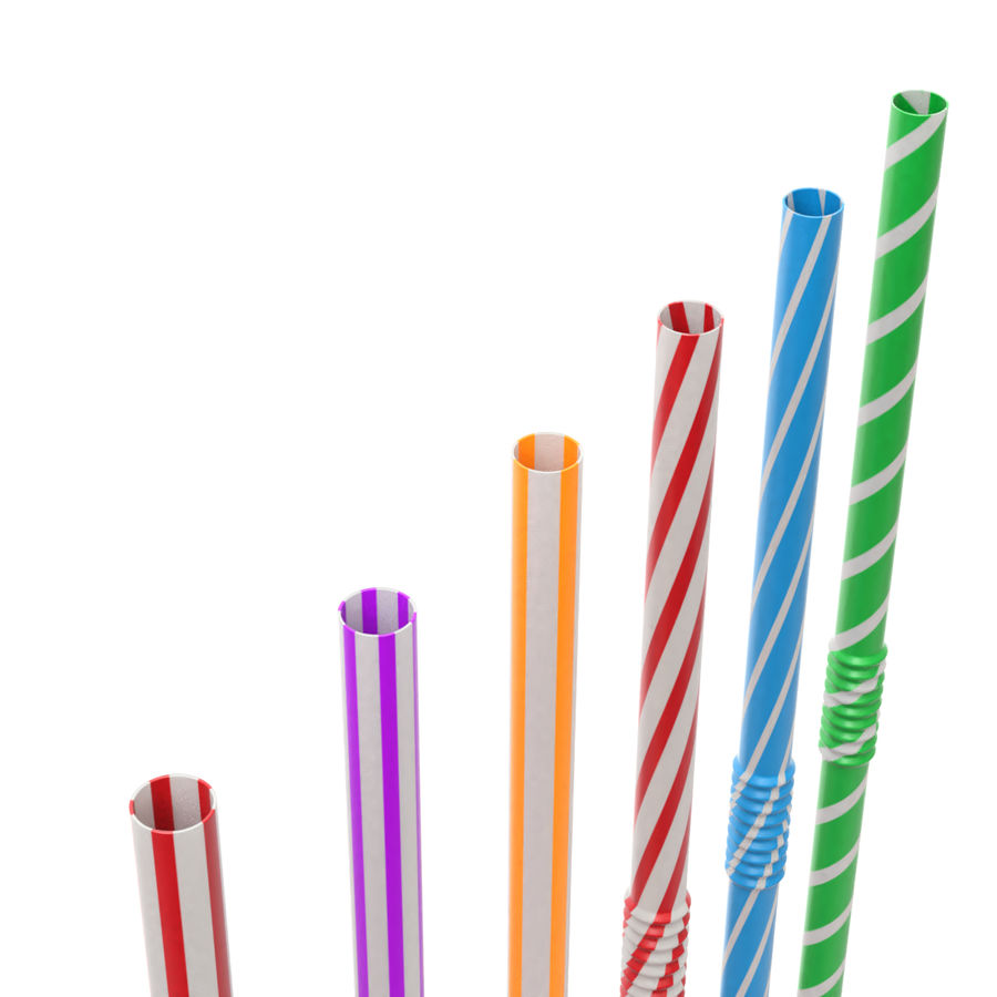 Rigged Drink Straw royalty-free 3d model - Preview no. 6