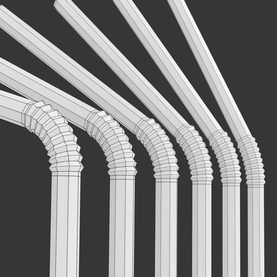 Rigged Drink Straw royalty-free 3d model - Preview no. 12