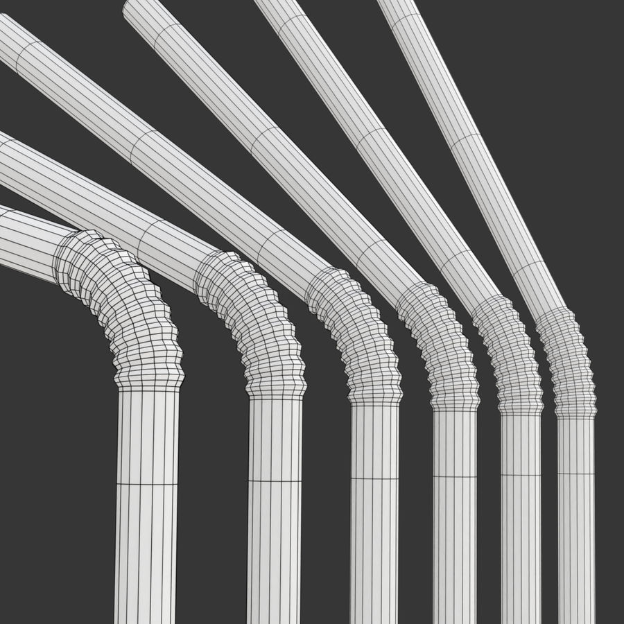 Rigged Drink Straw royalty-free 3d model - Preview no. 13