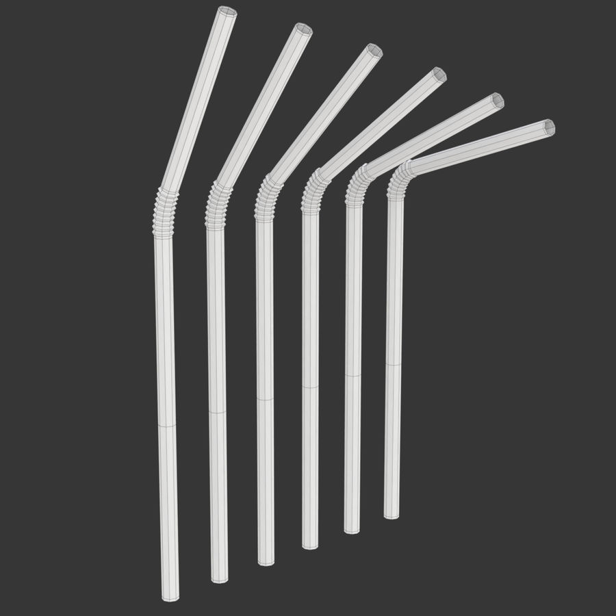 Rigged Drink Straw royalty-free 3d model - Preview no. 10