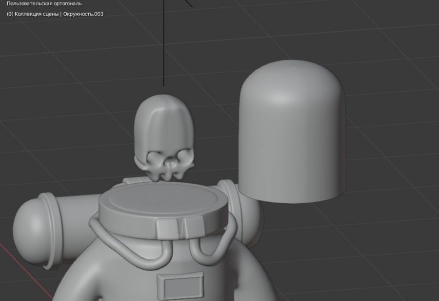 Astronaut character skeleton space royalty-free 3d model - Preview no. 4