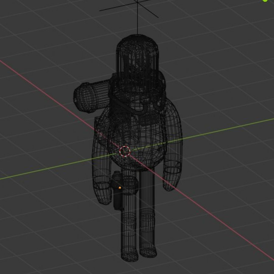 Astronaut character skeleton space royalty-free 3d model - Preview no. 5