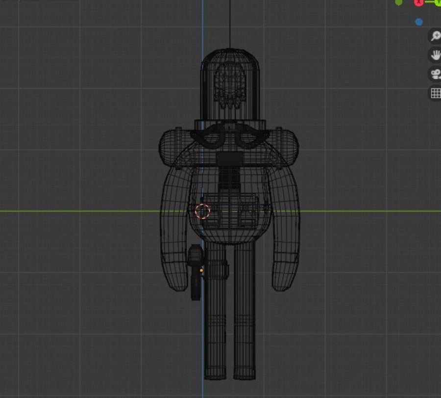 Astronaut character skeleton space royalty-free 3d model - Preview no. 6