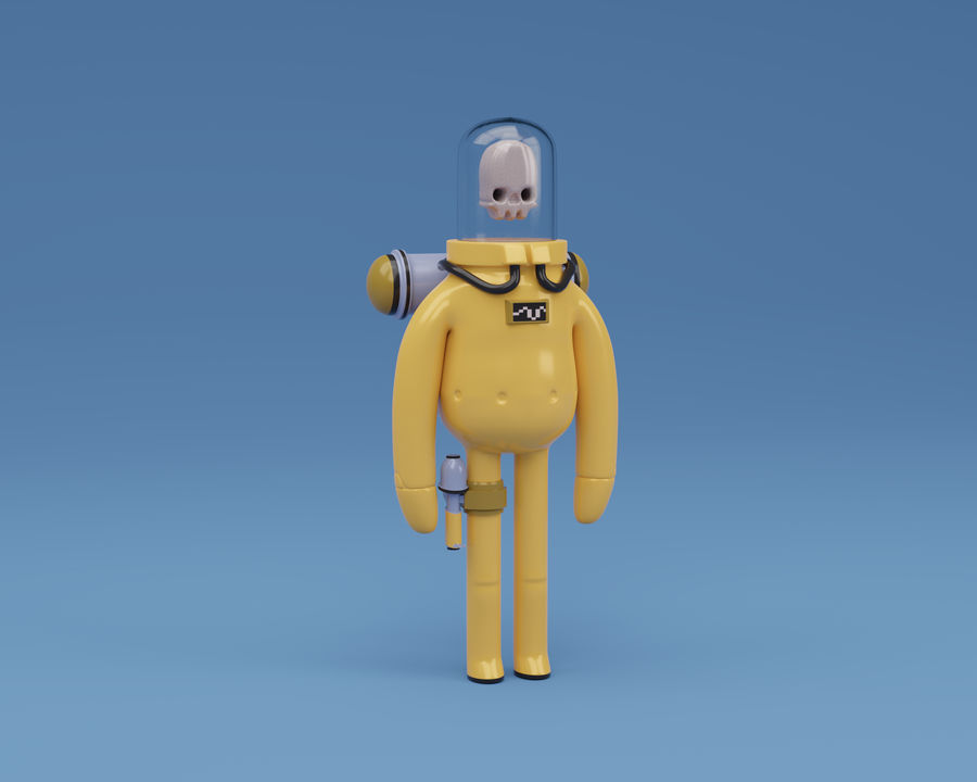Astronaut character skeleton space royalty-free 3d model - Preview no. 1