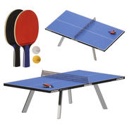Outdoor ping-pong 3d model