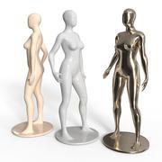 Dames Etalagepop Set 3d model