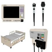 Sprzęt medyczny do sali szpitalnej: format szkicowy 3d model
