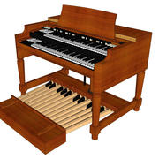 Hammond B3 Organ: Taslak Biçimi 3d model