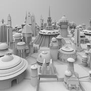 Kitbash Futuristic SciFi 26+ Buildings Pack 3d model