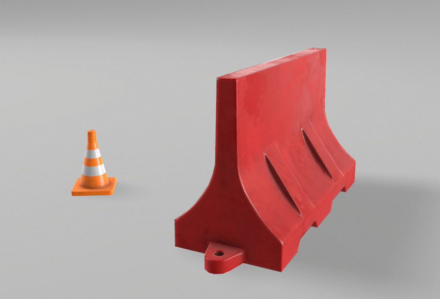 Road props royalty-free 3d model - Preview no. 2