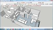 Pequeña oficina modelo 3d