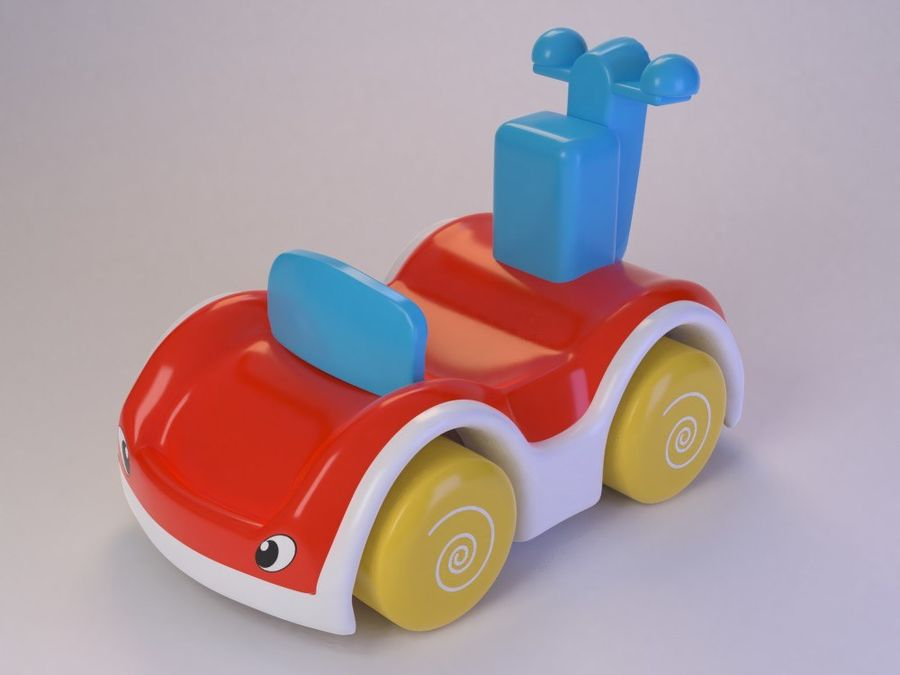 Toy Cartoon Cute Car royalty-free 3d model - Preview no. 7