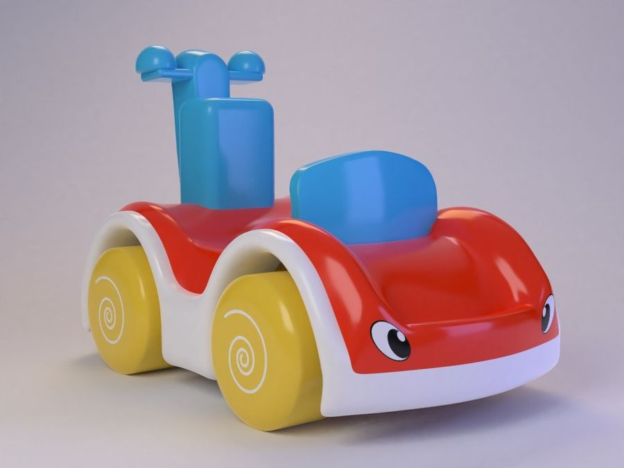 Toy Cartoon Cute Car royalty-free 3d model - Preview no. 1
