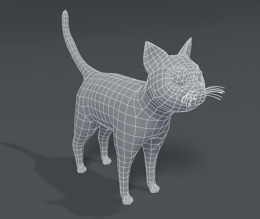 Cartoon Cat Base Mesh 3D模型 royalty-free 3d model - Preview no. 1