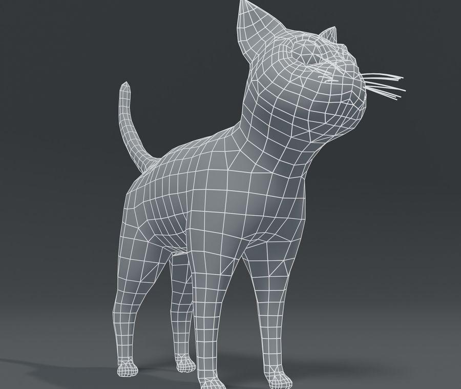 Cartoon Cat Base Mesh 3D模型 royalty-free 3d model - Preview no. 5