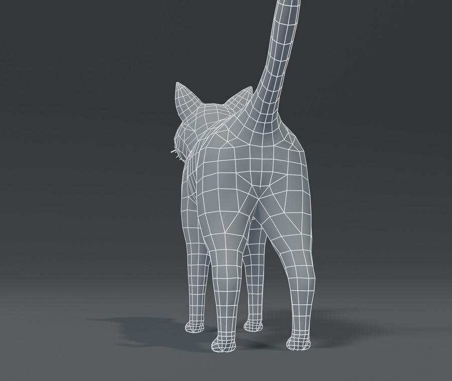 Cartoon Cat Base Mesh 3D模型 royalty-free 3d model - Preview no. 12