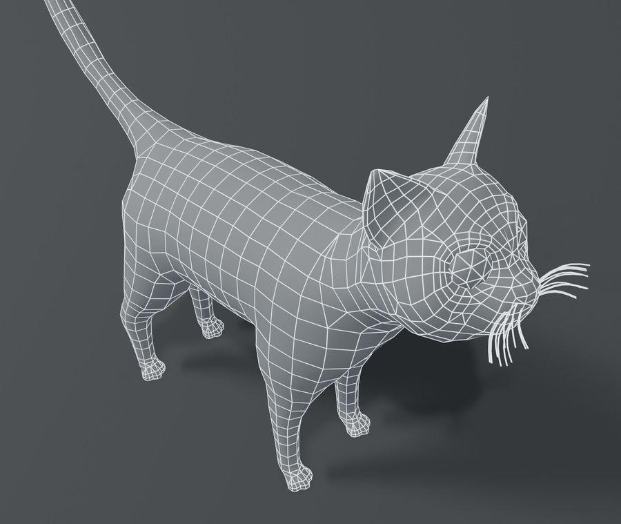 Cartoon Cat Base Mesh 3D模型 royalty-free 3d model - Preview no. 9