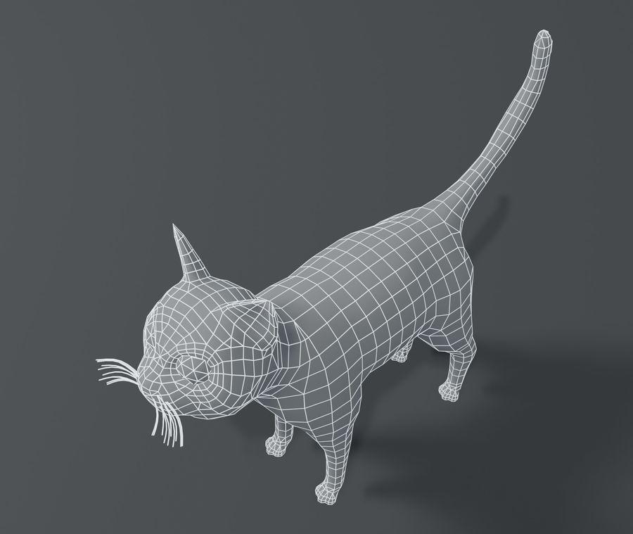 Cartoon Cat Base Mesh 3D模型 royalty-free 3d model - Preview no. 16