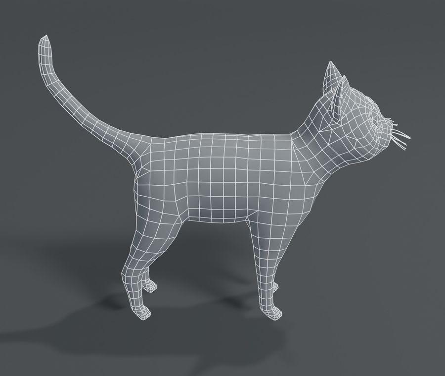 Cartoon Cat Base Mesh 3D模型 royalty-free 3d model - Preview no. 2