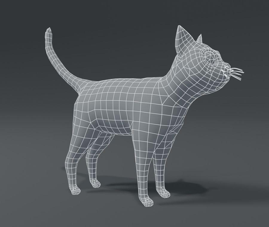 Cartoon Cat Base Mesh 3D模型 royalty-free 3d model - Preview no. 10
