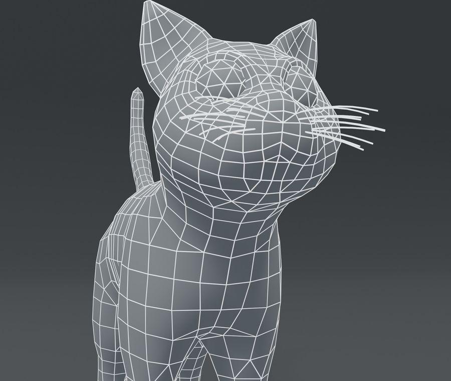 Cartoon Cat Base Mesh 3D模型 royalty-free 3d model - Preview no. 14