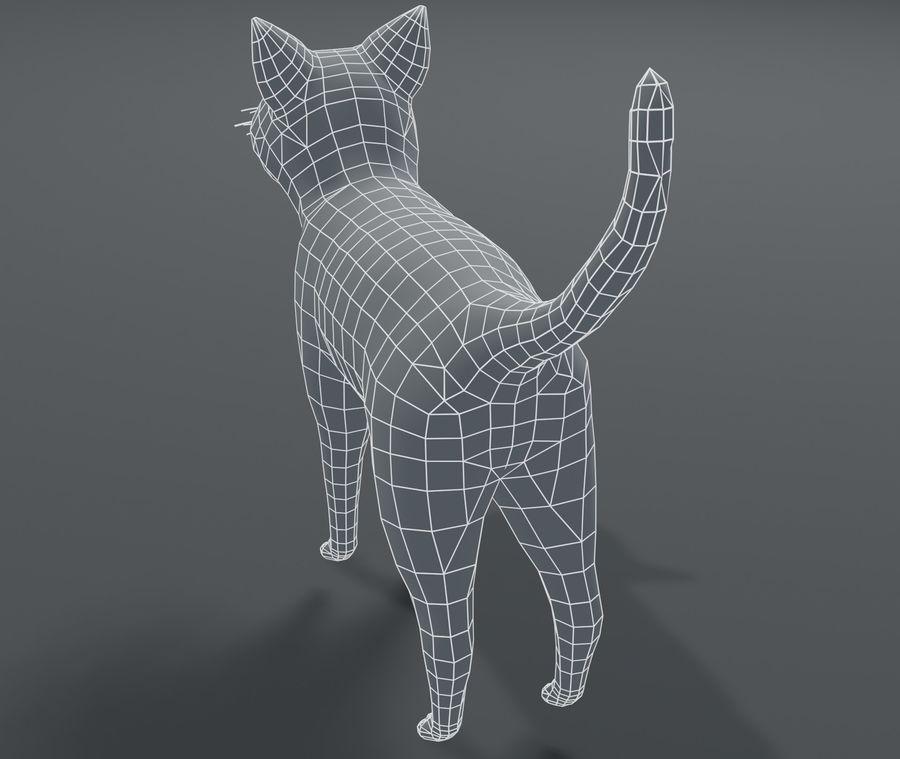 Cartoon Cat Base Mesh 3D模型 royalty-free 3d model - Preview no. 7