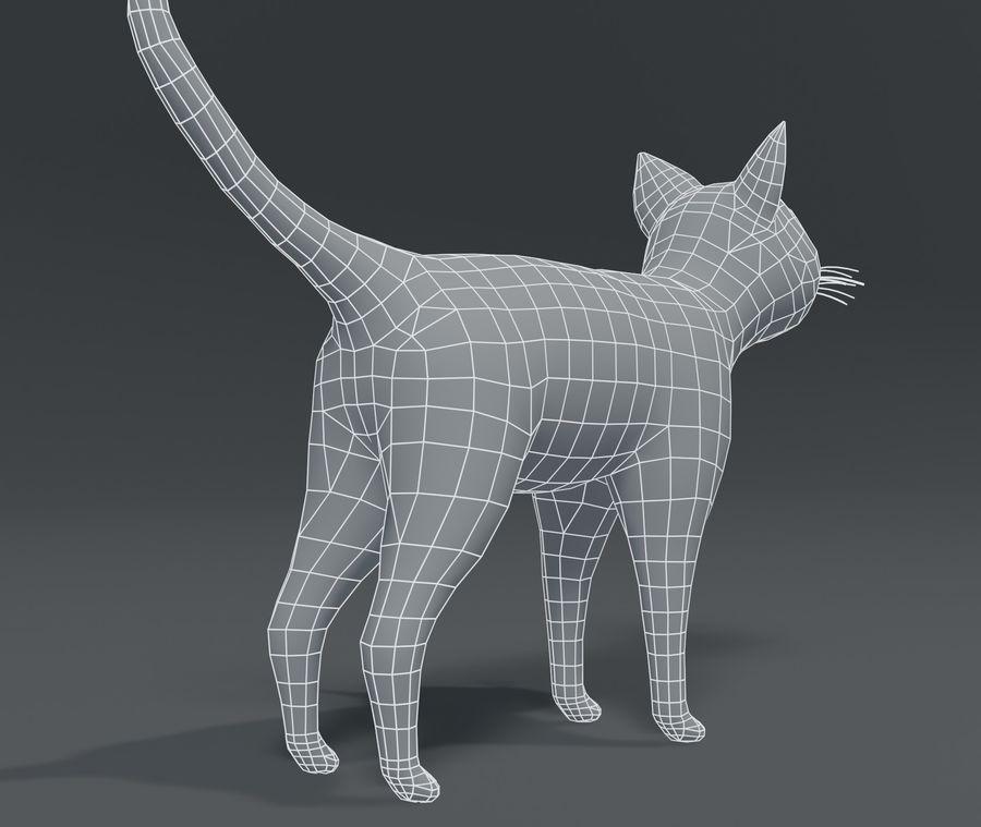 Cartoon Cat Base Mesh 3D模型 royalty-free 3d model - Preview no. 8