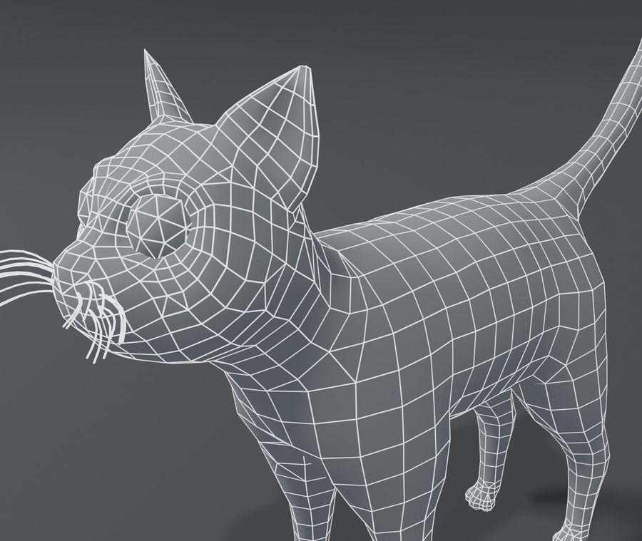 Cartoon Cat Base Mesh 3D模型 royalty-free 3d model - Preview no. 15