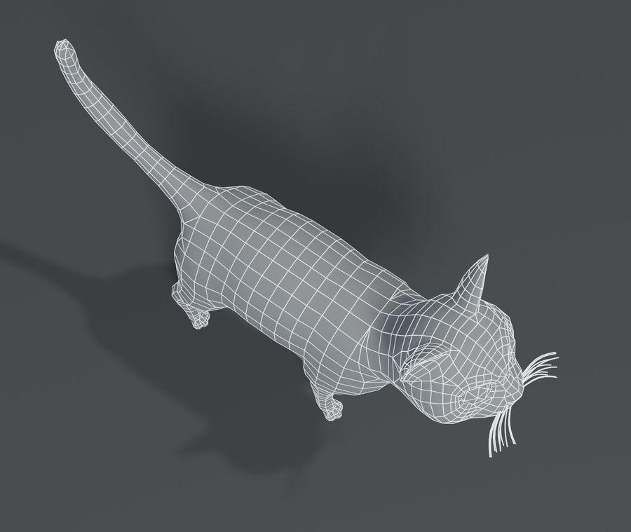 Cartoon Cat Base Mesh 3D模型 royalty-free 3d model - Preview no. 4