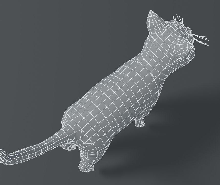 Cartoon Cat Base Mesh 3D模型 royalty-free 3d model - Preview no. 13