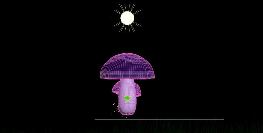 Cogumelos royalty-free 3d model - Preview no. 4