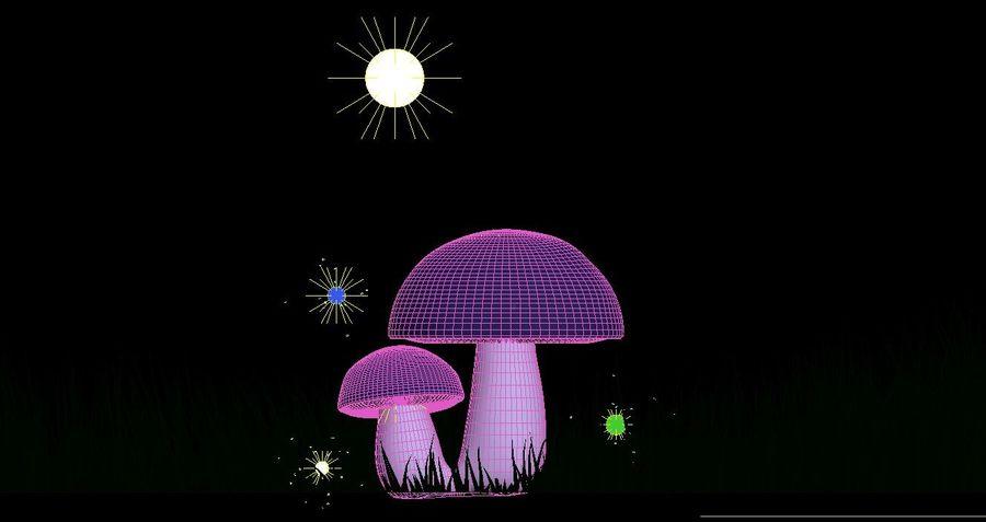 Cogumelos royalty-free 3d model - Preview no. 3