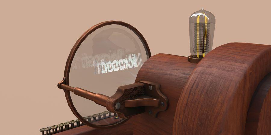 Retro Electronics Terminal royalty-free 3d model - Preview no. 9