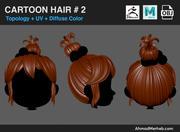 Tecknad hår # 2 3d model