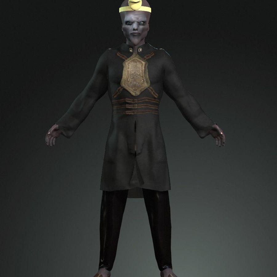 Design de personagens para atores estrangeiros Prontos para animação royalty-free 3d model - Preview no. 3