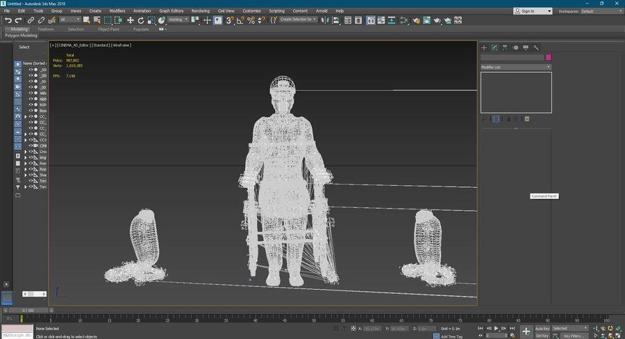 Design de personagens para atores estrangeiros Prontos para animação royalty-free 3d model - Preview no. 14