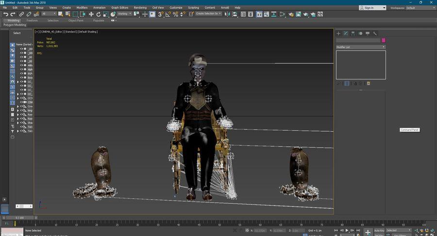 Design de personagens para atores estrangeiros Prontos para animação royalty-free 3d model - Preview no. 13