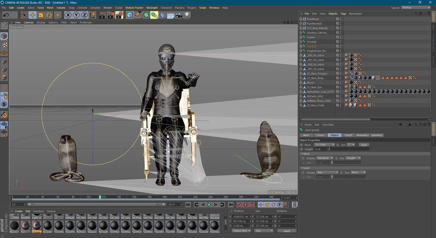 Design de personagens para atores estrangeiros Prontos para animação royalty-free 3d model - Preview no. 12