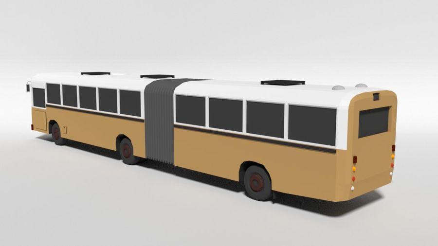 Retro Poly Cartoon Retro Bus royalty-free 3d model - Preview no. 3