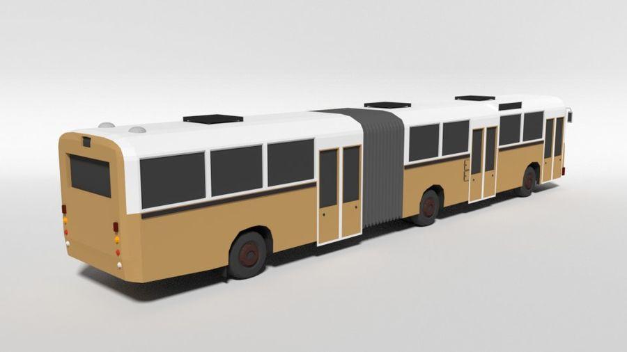 Retro Poly Cartoon Retro Bus royalty-free 3d model - Preview no. 5