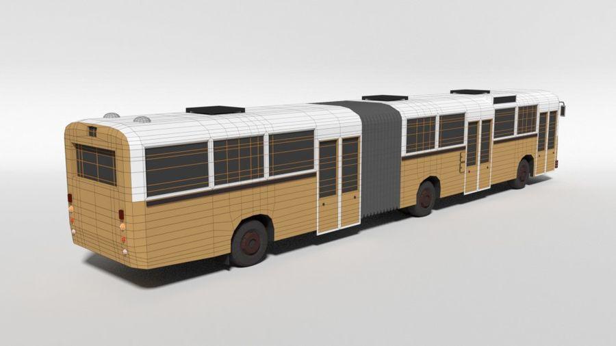 Retro Poly Cartoon Retro Bus royalty-free 3d model - Preview no. 15