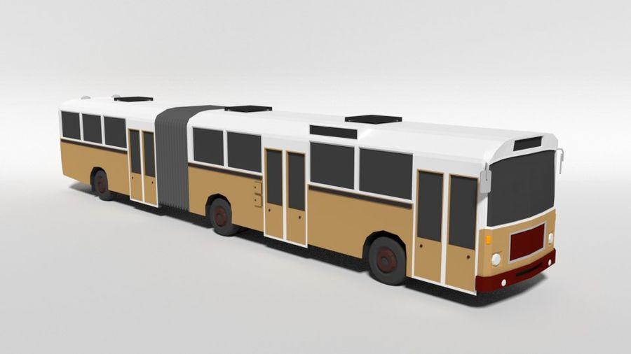 Retro Poly Cartoon Retro Bus royalty-free 3d model - Preview no. 7