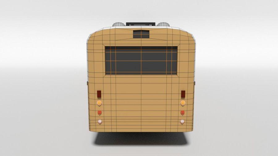Retro Poly Cartoon Retro Bus royalty-free 3d model - Preview no. 14