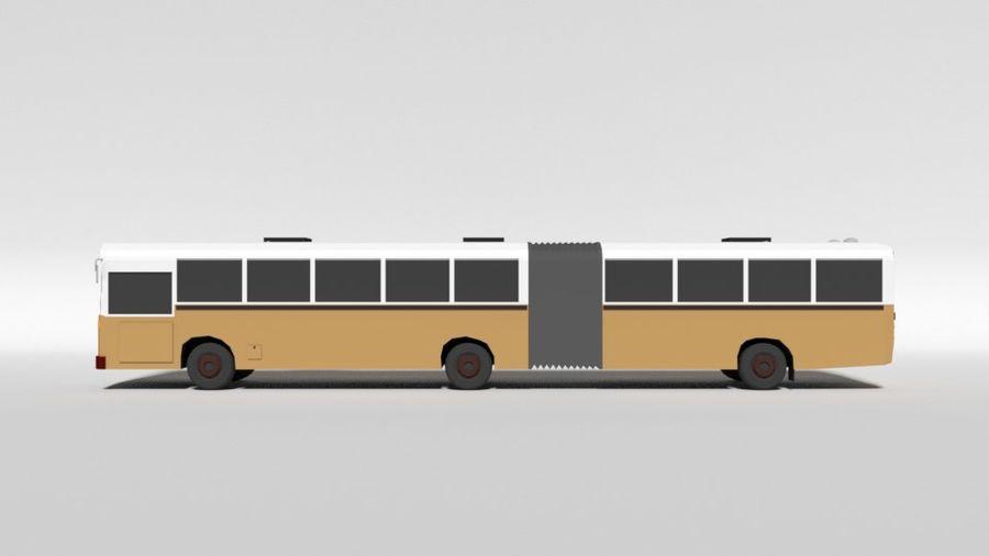 Retro Poly Cartoon Retro Bus royalty-free 3d model - Preview no. 2