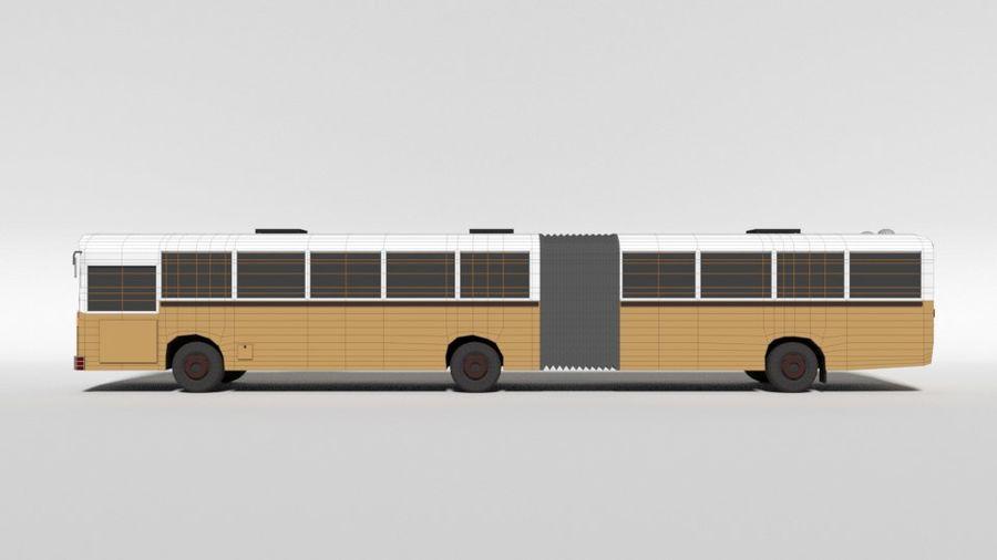Retro Poly Cartoon Retro Bus royalty-free 3d model - Preview no. 12